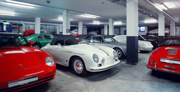 Porsche Klassiker in Garage