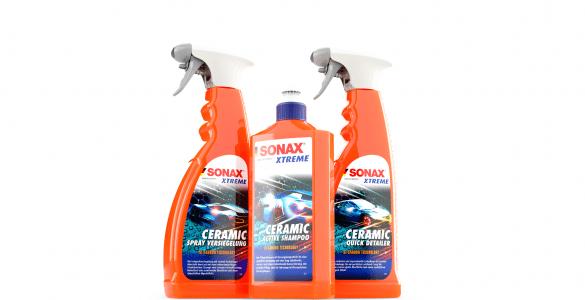 SONAX Xtreme Ceramic Series - Vorteile der Keramikversiegelung Langanhaltende Versiegelung des Autolacks starke Spiegelung der Lackoberfläche Abperleffekt Deutlich leichtere Reinigung Versiegelung wirkt Schmutzabweisend
